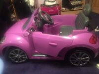 Battery operated ride on beetle