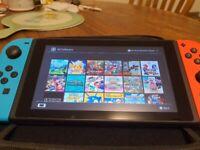Nintendo switch with games, Zelda, hyrule, Mario games, Pokemon , megaman, sonic, unpatched