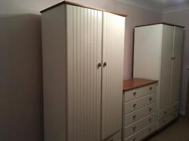 2 Double Wardrobes & Chest of Drawers