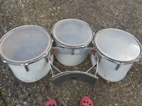 Marching/ Parade style single-head tomtoms, several sets, Premier and Remo