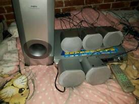 Sony surround sound DVD Player subwoofer and speakers