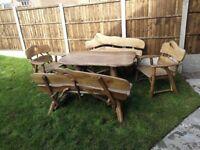 Solid Hand Made Wooden Garden Furniture Oak