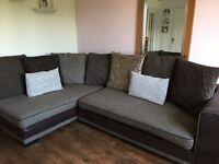 Corner sofa armchair and footstool