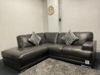 SOLD- Beautiful Harvey's real leather corner sofa delivery 🚚 sofa suite couch