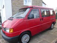 VW T4 camper van, SWB, 1.9 diesel, pop-top roof, 2 or 4 berth, MOT till November
