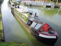 Historic Narrowboat named ASTON - 1937 - solid iron/steel hull - 72ft long - 7ft internal headspace