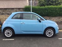 Azzuro Blue Fiat 500, 64 Plate, within warranty,careful female owner - a must see!