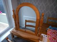 Dressing Table top mirror with wooden stand and frame £5