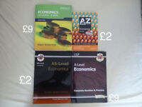 A Level Economics textbook and guides (prices in description)