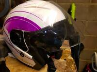 Open face crash helmet. Size xl