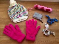 BRAND NEW: Job Lot Mixed Accessories: Hat Gloves Umbrella Purse Cath Kidston Bows