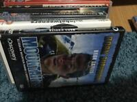 DVDs NEW in film 050 p plus 0.20for USED