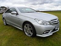 2009 (59) NEW SHAPE MERCEDES E 350 COUPE BLUE-CY SPORT CDI AUTO MET SILVER FMBSH