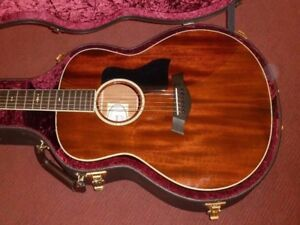 Taylor acoustic guitar limited addition mahogany