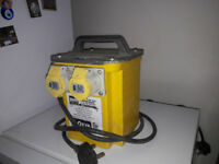 Used site transformer twin outlet