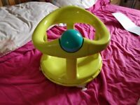 Lime green swivel bath safety baby seat