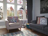 Light Beige NEXT Retro Scandi Inspired Armchair