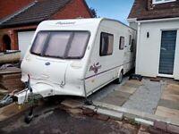 2004 year Bailey Pegeant caravan 4 berth