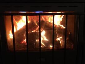 Reclaimed fire wood logs