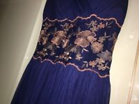 Size: small 10 Navy Blue Prom Maxi Dress, Evening Dress Gown
