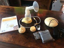 Medela Swing Single Electric Breast Pump, With Calma Bottle In Original Box