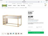IKEA KURA REVERSIBLE CHILDREN BED