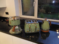 For Sale, DeLonghi Coffee Maker, Kettle and 4 Slice Toaster.