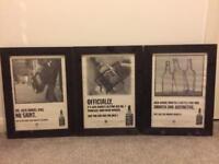 Jack Daniels Framed Pictures x3