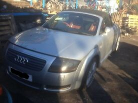 2002 AUDI TT 1.8T 225 BHP 20V BAM IN SILVER BREAKING FOR PARTS AND SPARES