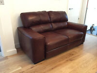 Two Italian Leather 2 seater sofas - model Guttuso CAT 55 leather