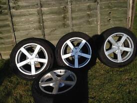 "X4 16"" Fox Wheels & Autoguard tyres"