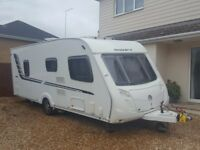 2010 Swift Challenger 570 4 berth fixed bed caravan in VGC with mover and 420 Air Awning