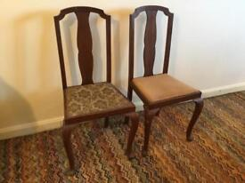 Vintage dining chairs (Queen Anne Style)