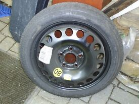 16 inch space saver wheel from vauxhall 5 stud fitting may fit other types
