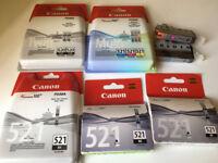 Canon Ink Cartridges (PGI-520 and CLI-521)