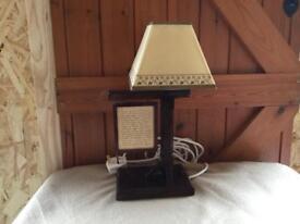 Antique wood lamp