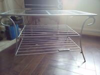 glass top coffee table or TV stand