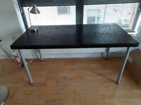 Ikea TORNLIDEN/ADILS Table, black-brown, silver-colour