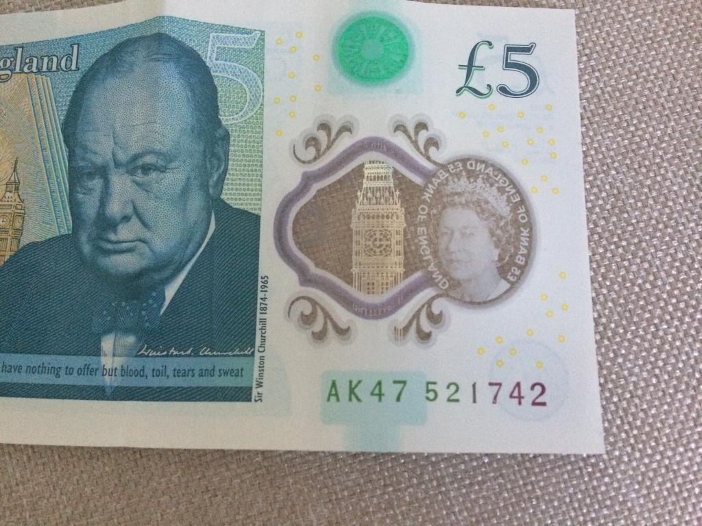 Rare £5 pounds note AK47...