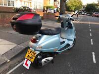 PIAGGIO VESPA ET4 blue 125cc low mileage hpi clear!!