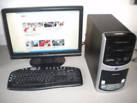 "Wireless Desktop PC with 22"" Wide Screen Monitor, to swap for iPhone, iPad Or iPod Touch"