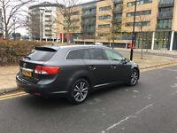 12 month PCO,62 reg 2012 toyota avensis estate 2.0 d4d diesel man, grey, 1owne, 70k f/s/h, hpi clear