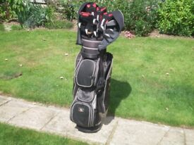 Ladies Golf Clubs and Bag 10 Lynx Black Cat Irons and 4 Benross Woods all in V.G.C