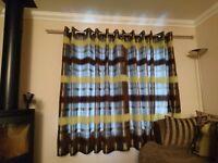 """Portobello Lime Curtains 90"""" x 72"""""""