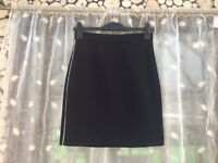 H&M black & silver skirt, size 8