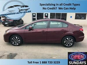 2013 Honda Civic AC,CRUISE,HANDS FREE, SUNROOF