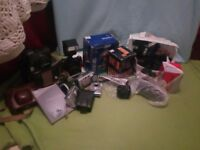 Cameras, flashes and accessories bundle