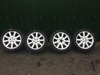 "Genuine Mercedes 18"" Alloy Wheels Good Tyres Ref.7"