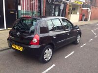 Renault Clio campus 2008 12 months MOT very good condition 78k miles cheap to insure female driver