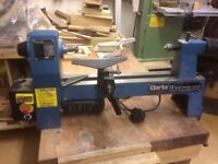 """Clarke 13"""" Mini Wood Turning Lathe for Spares or Repair"""